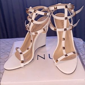 VENUS White wedge sandals